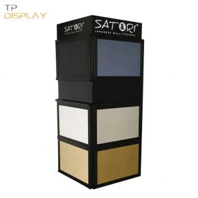 TP-CT013 freestanding wood material showroom display shelf for ceramic tile