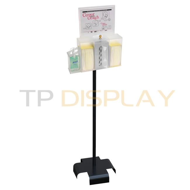 TP-CT092 Metal Powder Coated Colors Medical Supplies Dispenser Display Stand