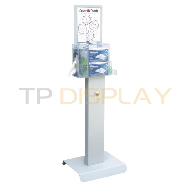 TP-CT108 Customized Floor Standing Metal and Acrylic Display Racks For Pharmacy