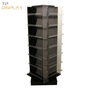 TP-CL012 wood material rotating floor display