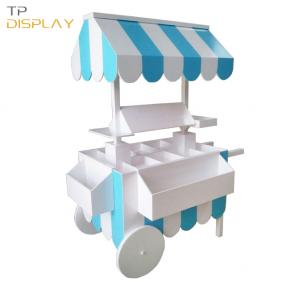TP-FB012 wooden material candy display cart