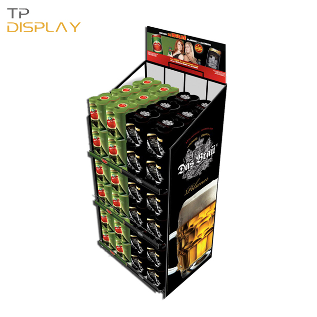 TP-FB003 metal material energy drink display stand for supermarket