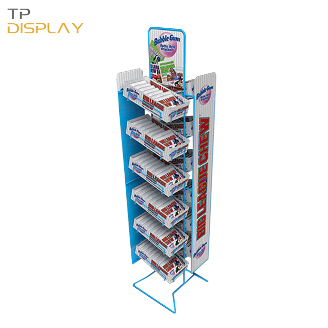 TP-FB009 odm metal display rack for candy
