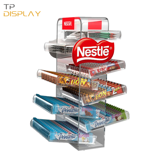 TP-CD008 candy display racks for supermarket