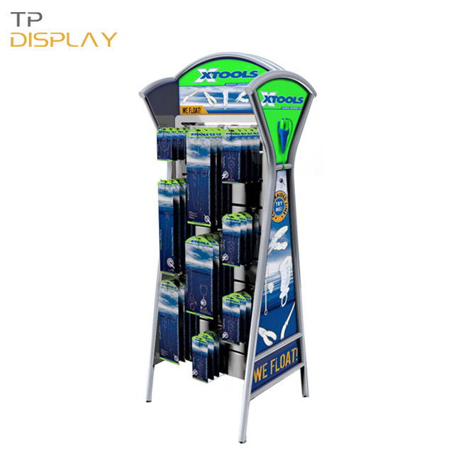 TP-TD006 metal material accessories display rack for tools